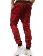 Červené teplákové nohavice