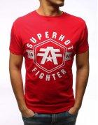Červené tričko s potlačou SuperHot Fighter
