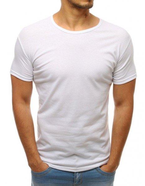 Pánske biele tričko bez potlače