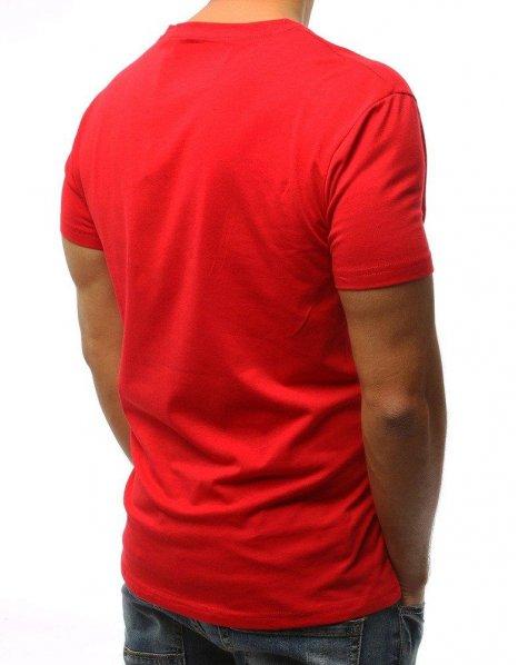 Červené tričko s potlačou Suproper