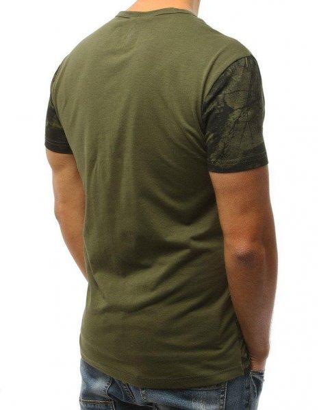 Zelené tričko so vzorom a potlačou Black Friday