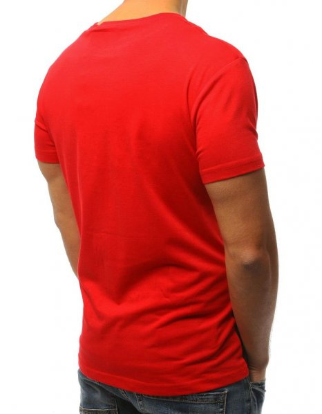 Červené tričko s potlačou Super Hot Japan