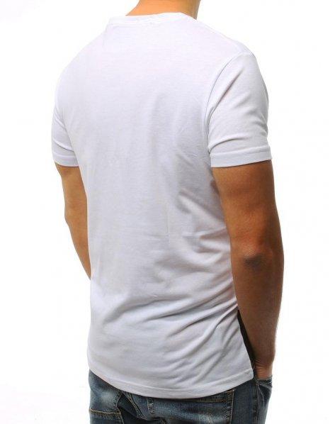 Biele tričko s potlačou Super Hot Japan
