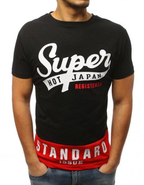 Čierne tričko s potlačou Super Hot Japan