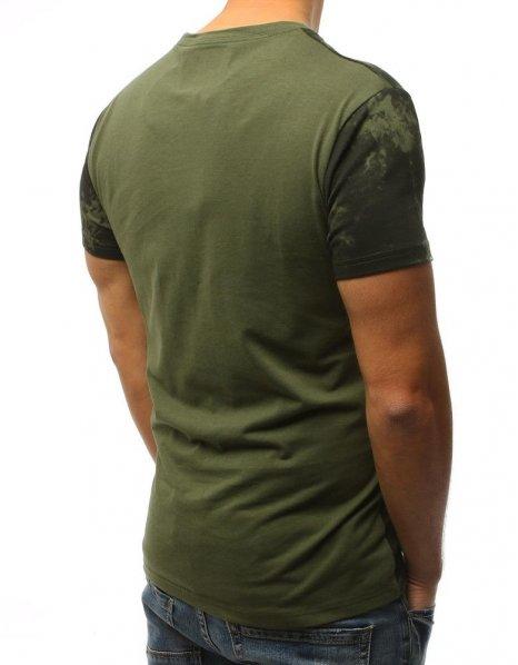 Zelené tričko s potlačou Core by Mechanics Man