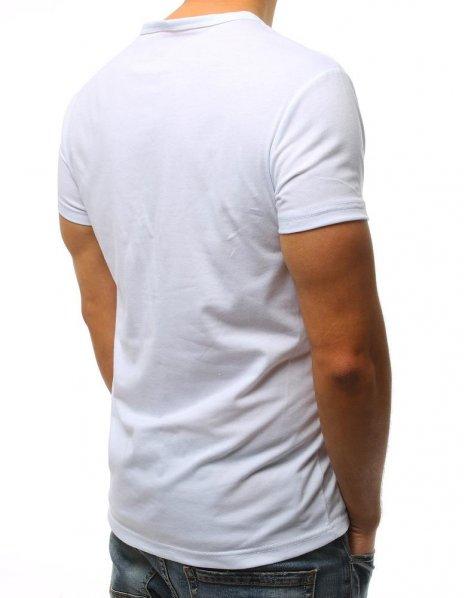 Biele tričko s potlačou Try Again