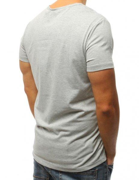 Šedé tričko s potlačou Try Again