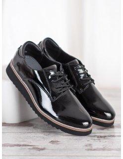 Kožené šedé dámske topánky