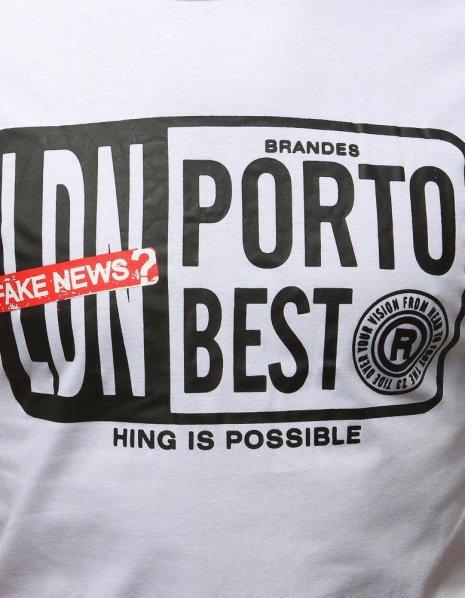 Biele tričko s potlačou Fake News 2