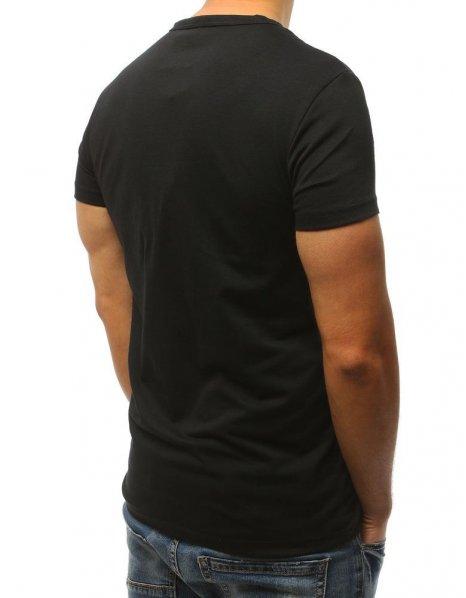 Čierne tričko s potlačou Fake News 2