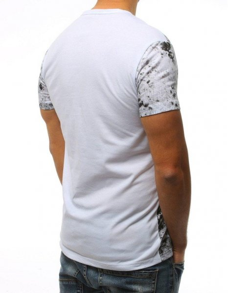 Biele tričko s potlačou Rock Only