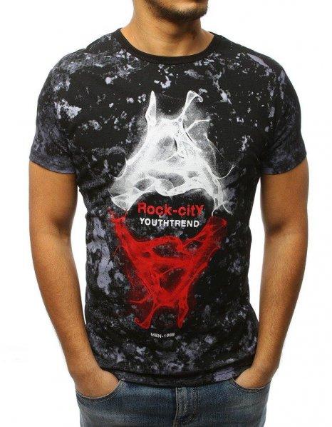 Čierne tričko s potlačou Rock Only