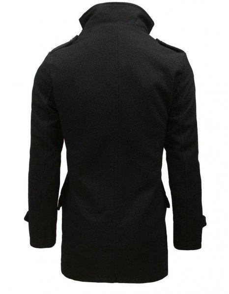 Dvojradový pánsky čierny kabát