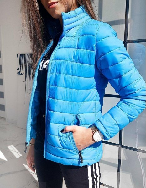 Dámska prešívaná bunda Emma modrá