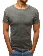 Pánske antracitové tričko bez potlače
