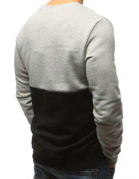 Pánska mikina šedo-čierna