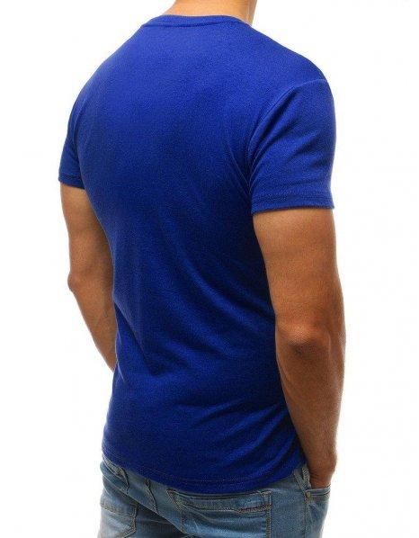 Pánske modré tričko bez potlače