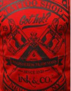 Červené pánske tričko s potlačou