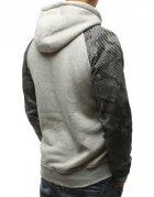 Pánska šedá mikina s kapucňou