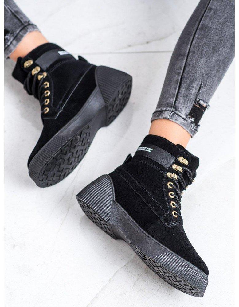 d4a362cab935 Modré dvojfarebné viazané športové topánky od NaSeba.sk