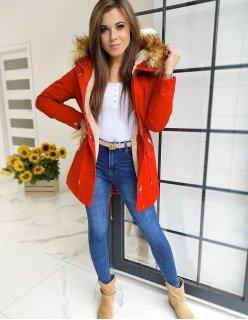 Červená prešívaná pánska vesta s kapucňou