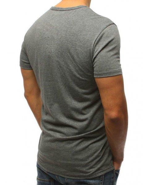 Pánske antracitové tričko s potlačou