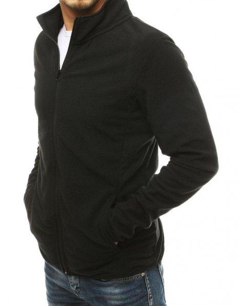 Čierna pánska mikina s rozopínaním