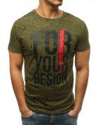Pánske zelené tričko s potlačou