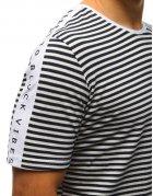 Tmavomodré pánske tričko s potlačou