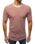 Bordové pánske tričko s potlačou