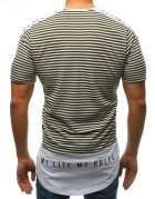 Tmavozelené pánske tričko s potlačou
