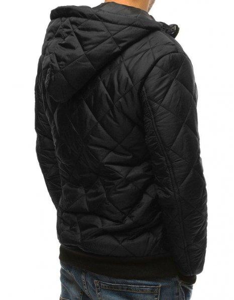 Pánska prechodná prešívaná čierna bunda