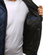Pánska prechodná prešívaná tmavomodrá bunda