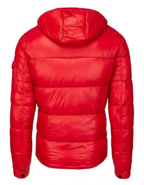 Červená pánska prešívaná zimná bunda