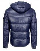 Tmavomodrá pánska prešívaná zimná bunda