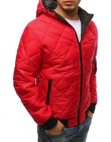 Pánska prechodná prešívaná červená bunda