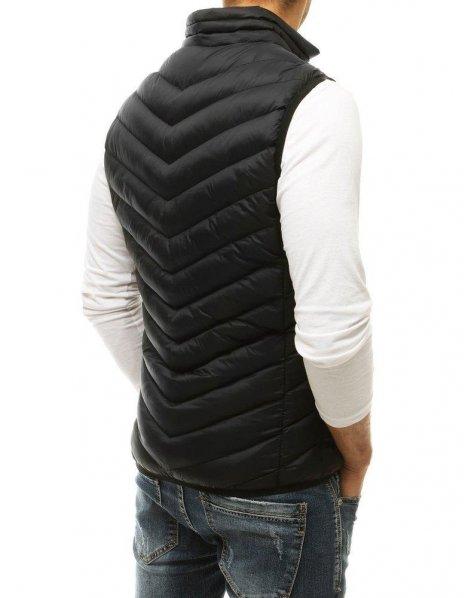Čierna prešívaná pánska vesta