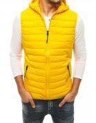 Žltá prešívaná pánska vesta