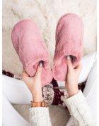 Ružové sandále s cvokmi v tvare pyramíd