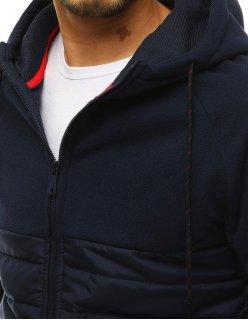 Modré pánske kraťasy s džínsovím vzhľadom