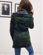Zelená dámska párka bunda Hervas
