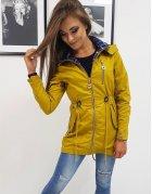Žltá dámska párka bunda Hervas