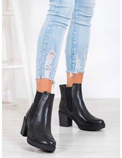 Pánske čierne kraťasy s džínsovým vzhľadom