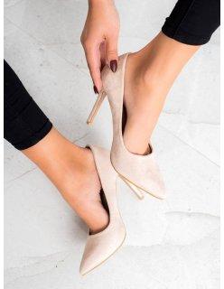 Lakované sandále so sponou