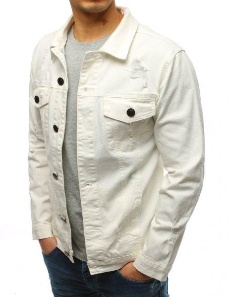 Ecru džínsová pánska bunda