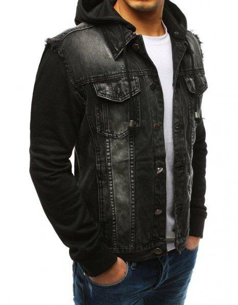 Čierna džínsová pánska bunda