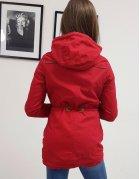 Červená dámska párka bunda Perla