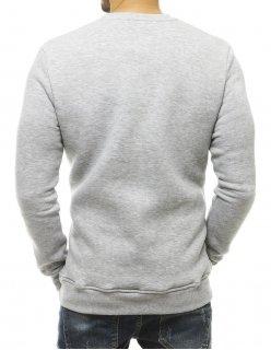 Svetlo šedé pánske tričko s potlačou