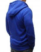 Pánska modrá mikina s rozopínaním na zips