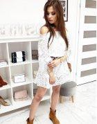 Biele dámske šaty